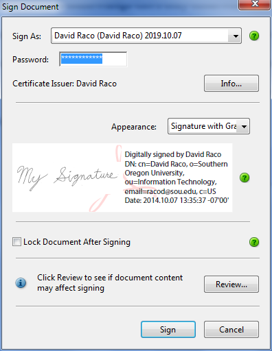 how to create and use a digital signature
