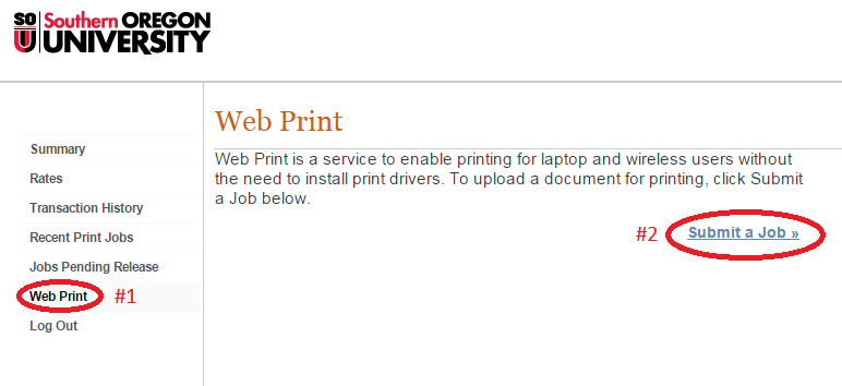 Web Print submit
