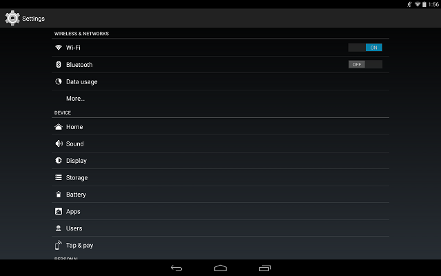 Android Stock Settings