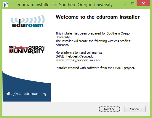 Windows 8 eduroam