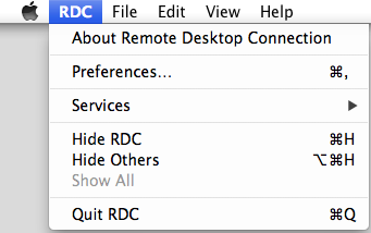 Mac RDC Preferences
