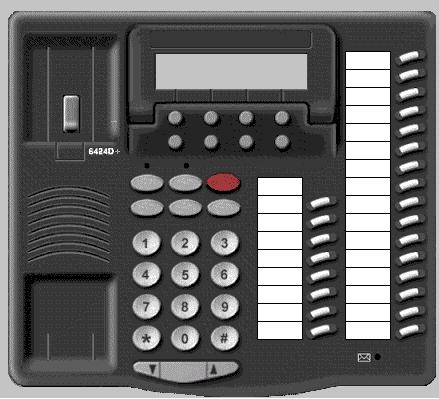 Avaya 6424D+ digital phone set