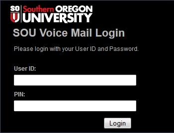 Voicemail web login